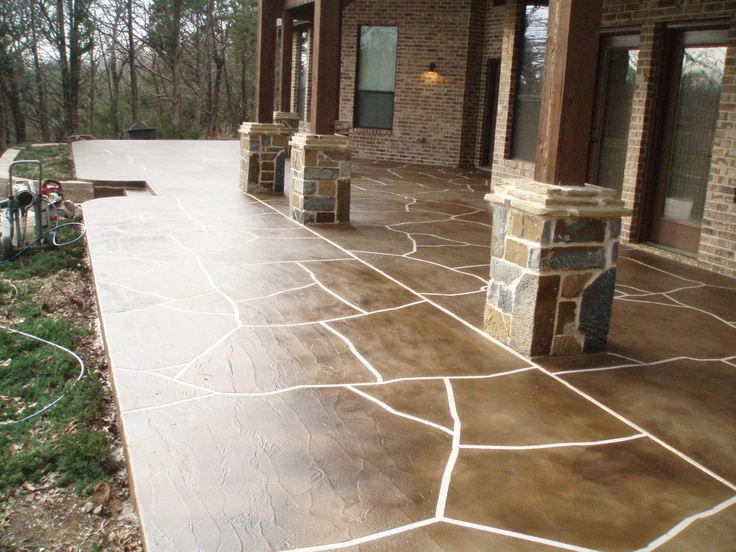future back porch!  Decorative concrete overlay by Surface Creation LLC  http://surfacecreation.com/  2012