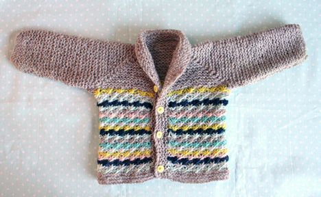 Lazy Daisy Baby Jacket - Lazy Daisy Baby Jacket - free knitting pattern - Pickles