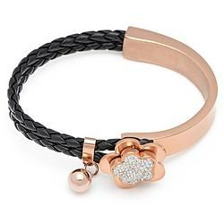 Charm Plated Rose Gold Black