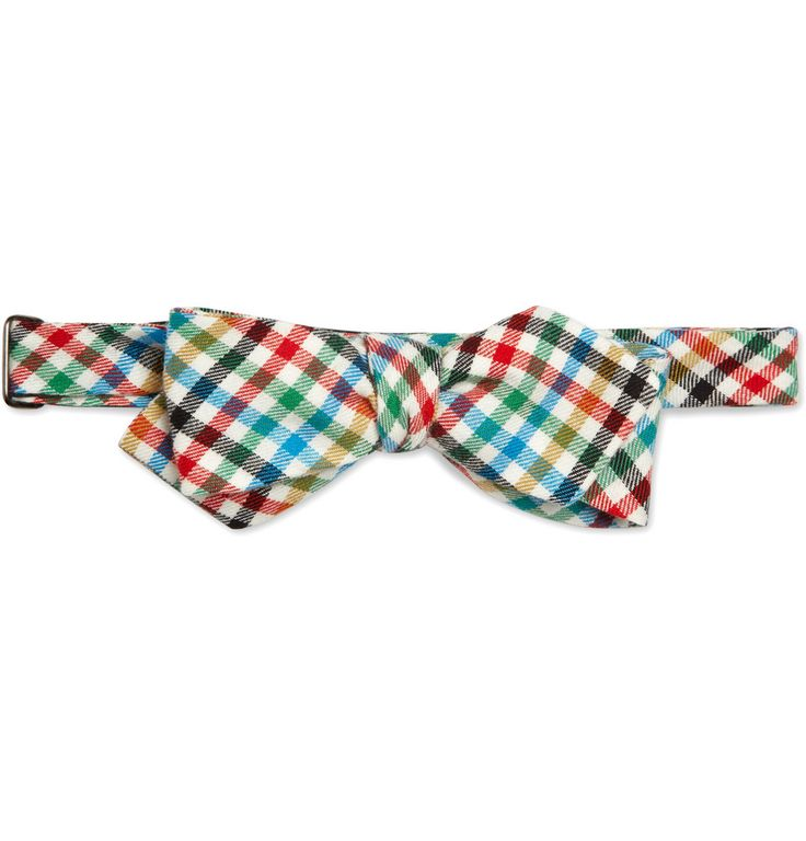 Alexander Olch - Check Cotton-Twill Bow TieBows Ties, Cotton Twils Bows, Bow Ties, Men Accessories, Cottontwil Bows, Alexander Olch, Bowties, Check Cottontwil, Check Cotton Twils