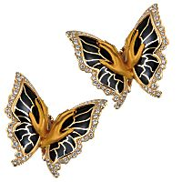 Versailles butterfly earrings; price on request; Magerit, Madrid; 34-91-327-4358; mageritjoyas.com