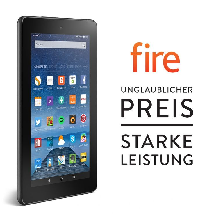 Fire 177 cm 7 zoll display wlan 8 gb