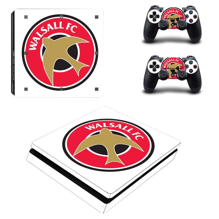 Walsall F.C Ps4 slim edition skin decal for console and 2 controllers