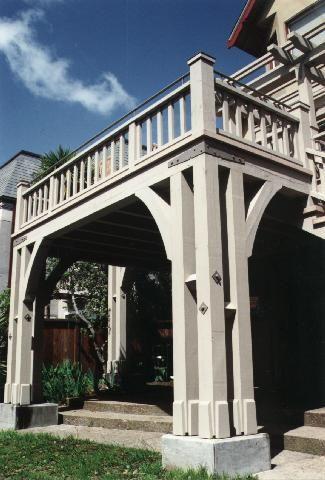 Exterior Railing Style Timber Frame Tudor Deck