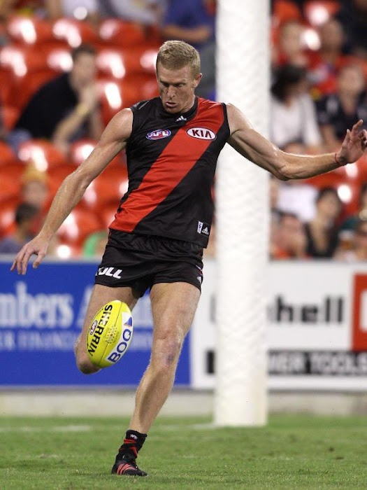 350 gamer Dustin Fletcher clears from the backline in the win over the Gold Coast Suns.