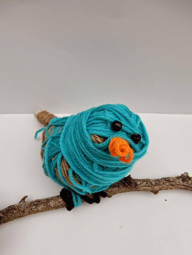 Doodlebug Dabblings: Tjanpi Central Desert Weavers inspired fibre bird sculptures
