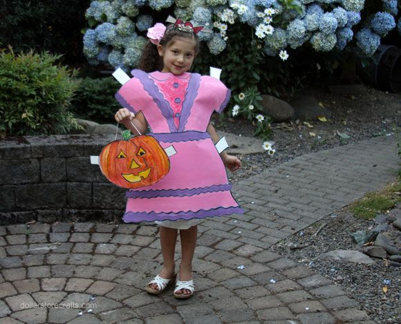 make a paper doll costume - How To Make A Doll Costume For Halloween