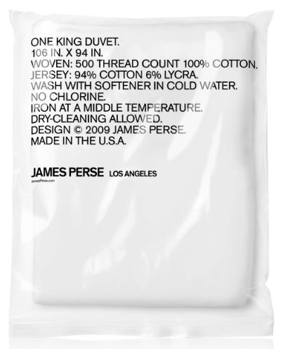 James Perse (If only all packaging was this clearly designed. :P)