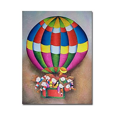 A Hot-air Balloon Oil Painting - Free Shipping