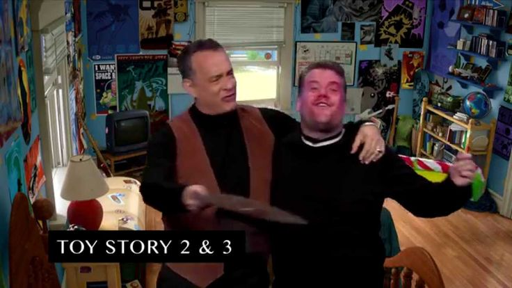 "Every Tom Hanks Movie in 8 Minutes (with Tom Hanks and James Corden) // James Corden and Tom Hanks act out snippets from Tom's illustrious film career, from Big to the Toy Story movies. Subscribe To ""The Late Late Show"" Channel H..."