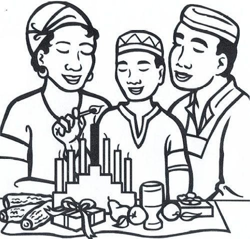 happy kwanzaa coloring pages - photo#5