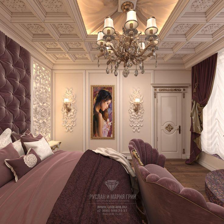 Дизайн спальни в пастельных тонах. Фото интерьера