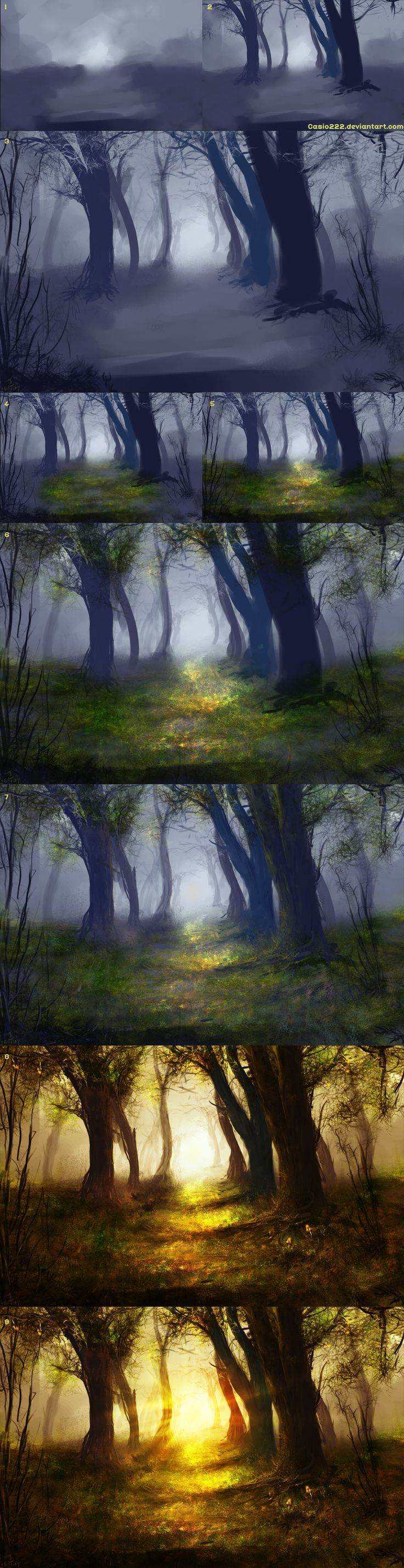 Beyond The Path - Process by casio222.deviantart.com on @deviantART