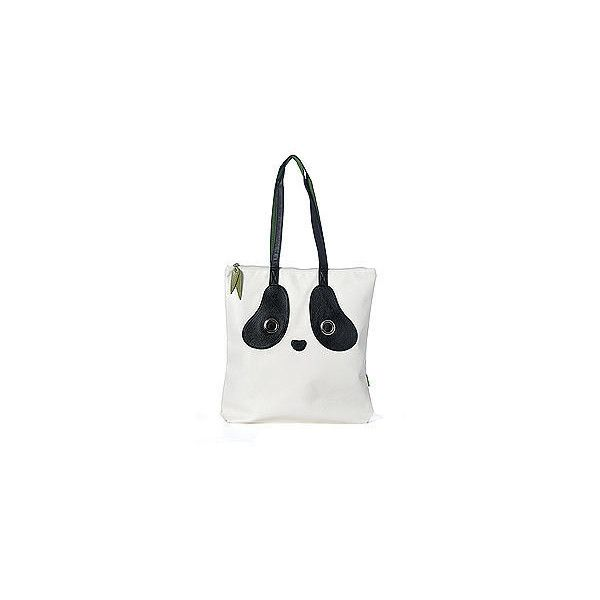 Panda Tote Bag Black and White - One Size ($38) ❤ liked on Polyvore