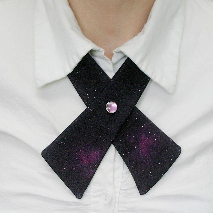 Womens Neck Tie - Galaxy - Magenta. $18.00, via Etsy.