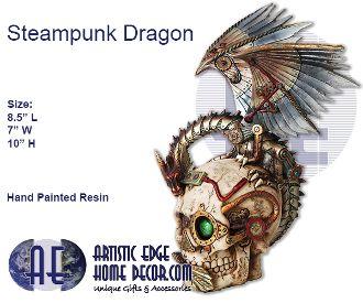 Steampunk Dragon & Skull