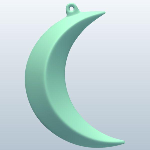 concave 3d crescent moon | Crescent Moon 3D Model Made with 123D MeshMixer