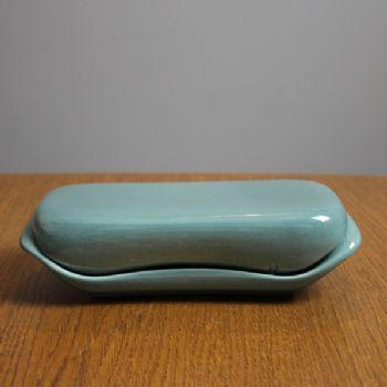 Russel Wright American Modern Butter dish - sea foam