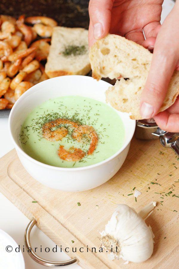 Zuppa di Cetrioli e Gamberetti - Diario di Cucina. Expat-Mamma in Francia