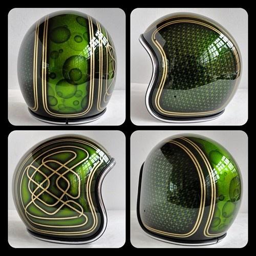 bobber | Tumblr. Green biker helmets