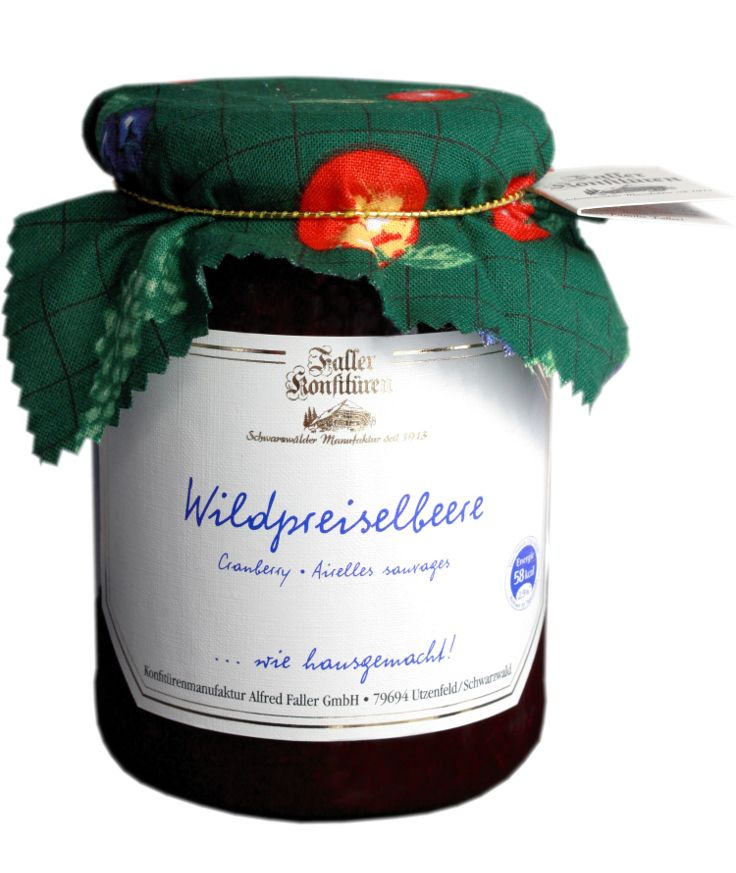 Wildpreiselbeeren aus der Konfitüren-Manufaktur Faller. Ideal zu Wildgerichten