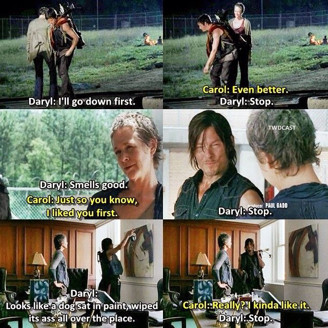 "Daryl ""stop"" - Fangirl - Ship - Caryl - twdcast's photo on Instagram"
