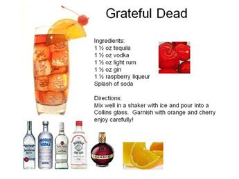 Had a variation of this in a club out of a fishbowl - The Grateful Dead  Enjoy and drink one for Jerry!