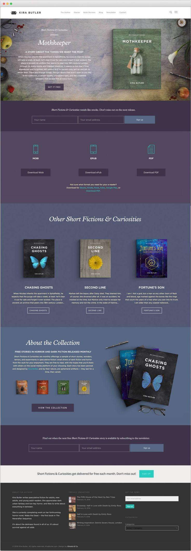 Kira Butler | Book Landing Pages and a design facelift