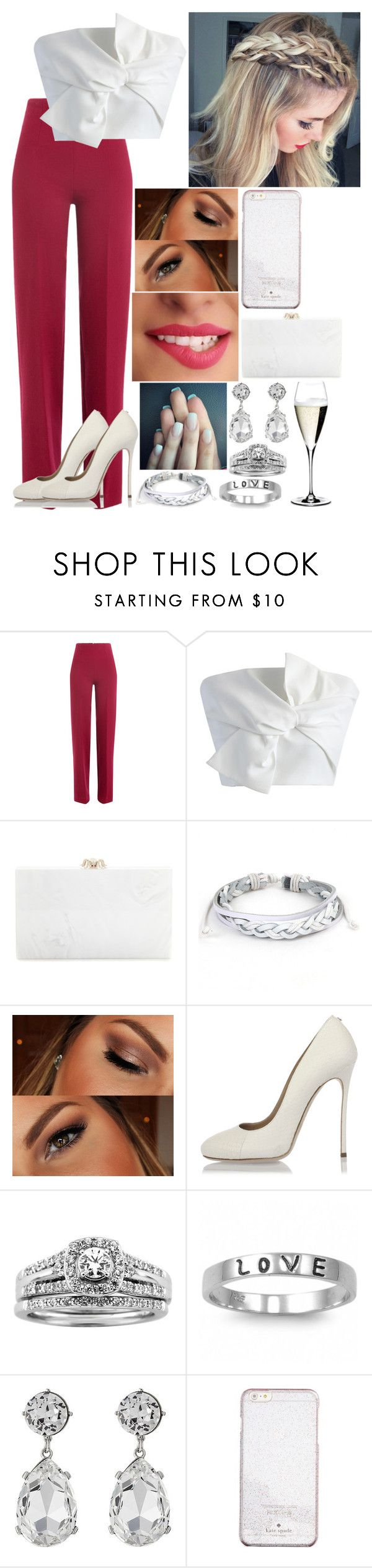 """Untitled #2947"" by nicolerunnels ❤ liked on Polyvore featuring Emilia Wickstead, Chicwish, Charlotte Olympia, West Coast Jewelry, Urban Decay, Dsquared2, A.Jaffe, Fantasy Jewelry Box, Kenneth Jay Lane and Kate Spade"
