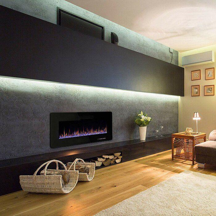 Hamden Heater Flat Panel Recessed Wall Mounted Electric Fireplace Wall Mount Electric Fireplace Electric Fireplace Recessed Electric Fireplace
