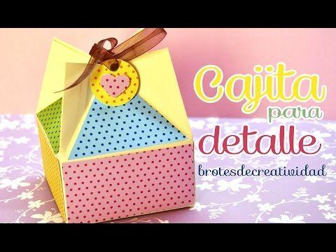 DIY : Caja para detalle o regalo / dulcero *Scrapbook* - YouTube
