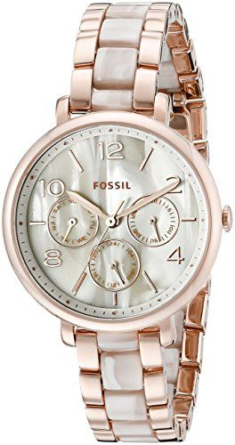 Fossil Women's ES3921 Pearlescent Rose Gold-Tone Stainless Steel Watch Fossil http://www.amazon.com/dp/B01487BVEY/ref=cm_sw_r_pi_dp_OJo3wb0VCJQJE