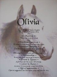 FIRST NAME MEANING SCROLL HORSE LOVERS CHRISTMAS GIFT or  BIRTHDAY GIFT