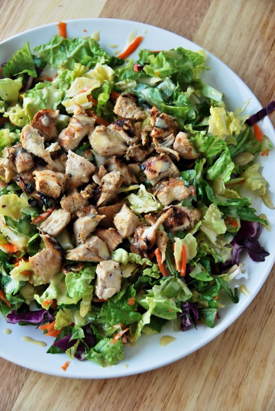 Woman World asian chicken salade bad