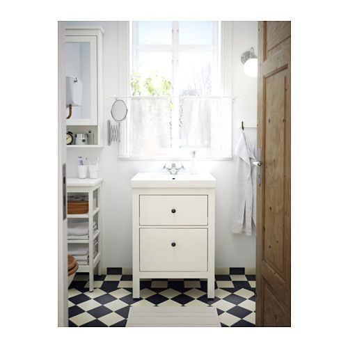 HEMNES / ODENSVIK Kommod med 2 lådor - vit - IKEA