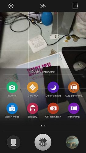 ColorOs Camera User Interface. Install ColorOs camera on your OnePlus One to take photos up to 50 MegaPixels.  Checkout: http://theoneplustwo.com/oneplus-one-install-coloros-camera-take-50-megapixel-photos-from-your-phone/