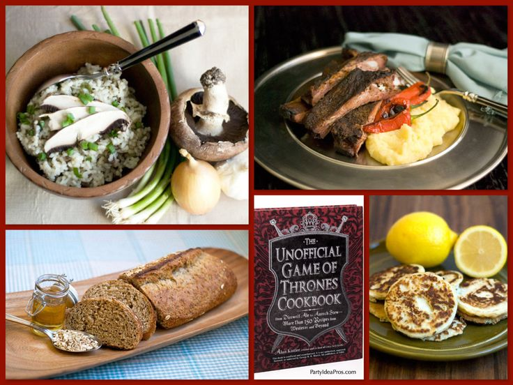 Unofficial Game of Thrones Cookbook - Fun Recipes for Your Game of Thrones Viewing Party! | Dinner Party Ideas | Game of Thrones Trailers |