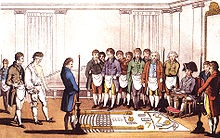 Freemasonry initiation. 18th century