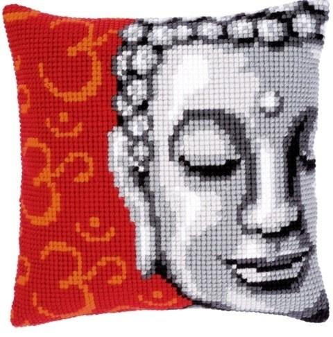 Kussen Boeddha. Compleet borduurpakket - Vervaco