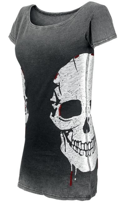 Reversible Skull T-Shirt by Rock Rebel ~ EMP