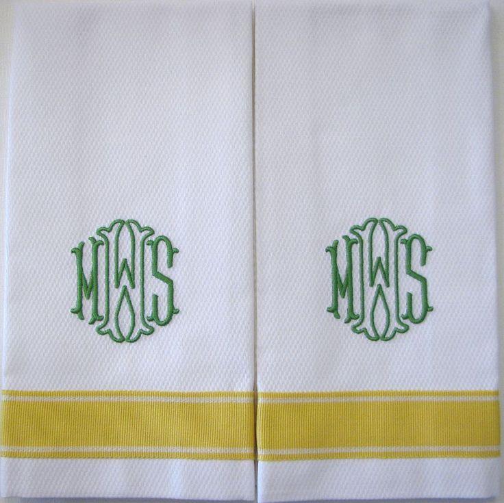 17 best ideas about monogram towels on pinterest