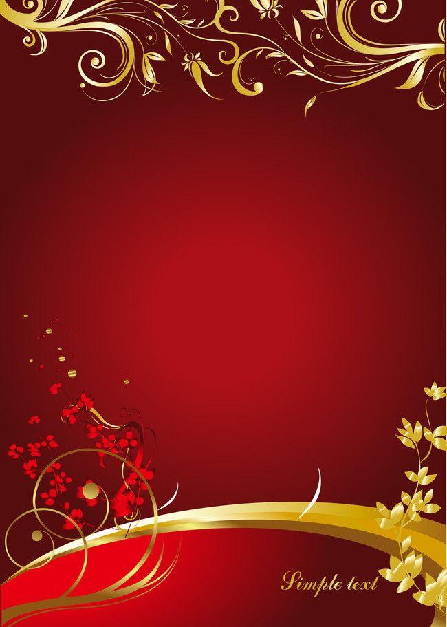 باترن ذهبي على خلفية حمراء المواد Red Background Gold Pattern Background