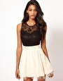 ASOS Little Mistress Lace Bustier Prom Dress