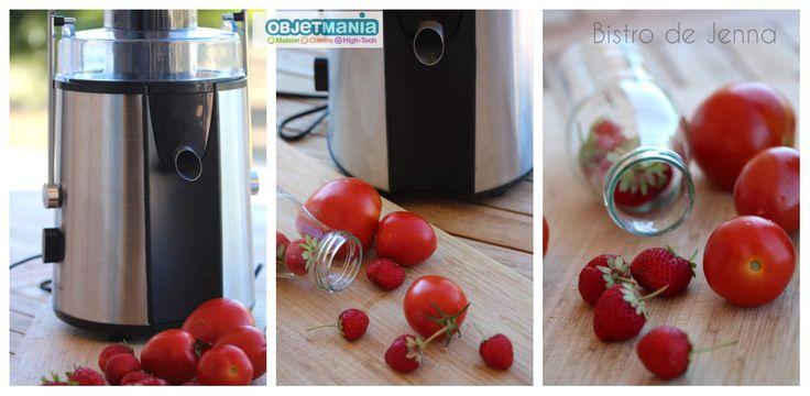 """Jus de fraises """"mara des bois"""" et tomates"""