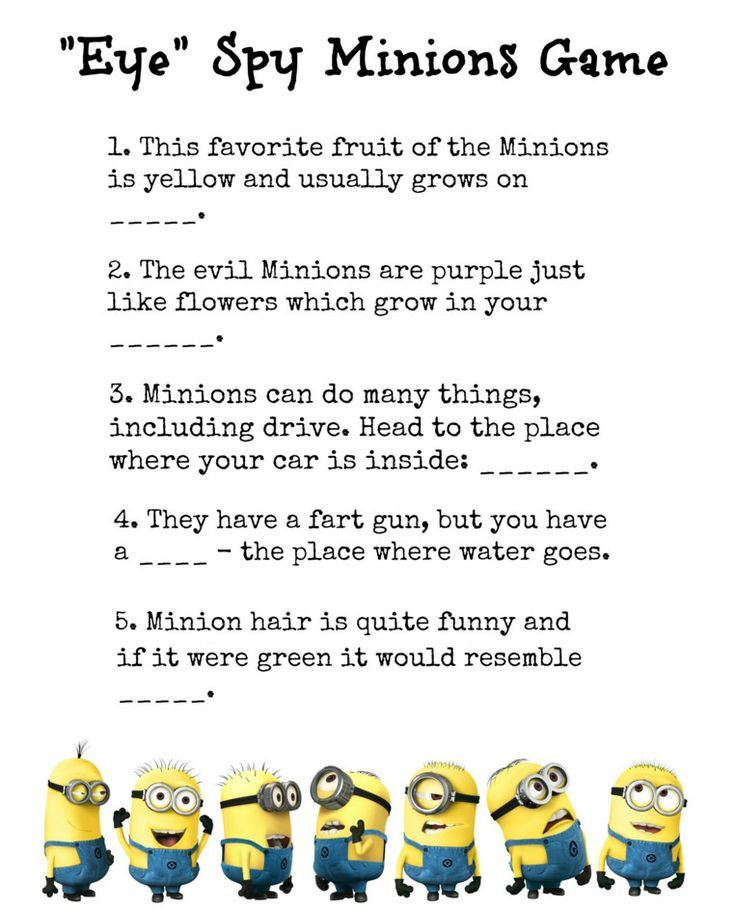 Minion Baby Shower Games