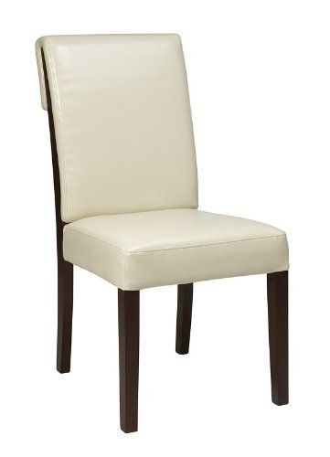 Metro Rollback Parsons Chair Finish Cream By OSP Designs 9713 MET92CM ChairsCherry FinishWood WoodA MediumConstructionDining Room