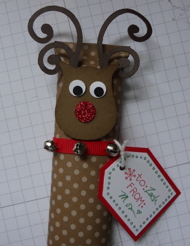 Rudolph - candy bar wrapped and decorated