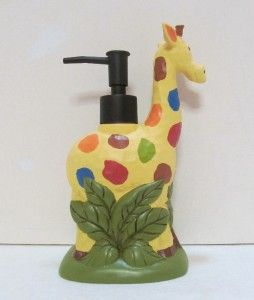 High Quality Giraffe+bath+accessories | ... GIRAFFE Soap Lotion Dispenser RAINBOW SAFARI  Jungle