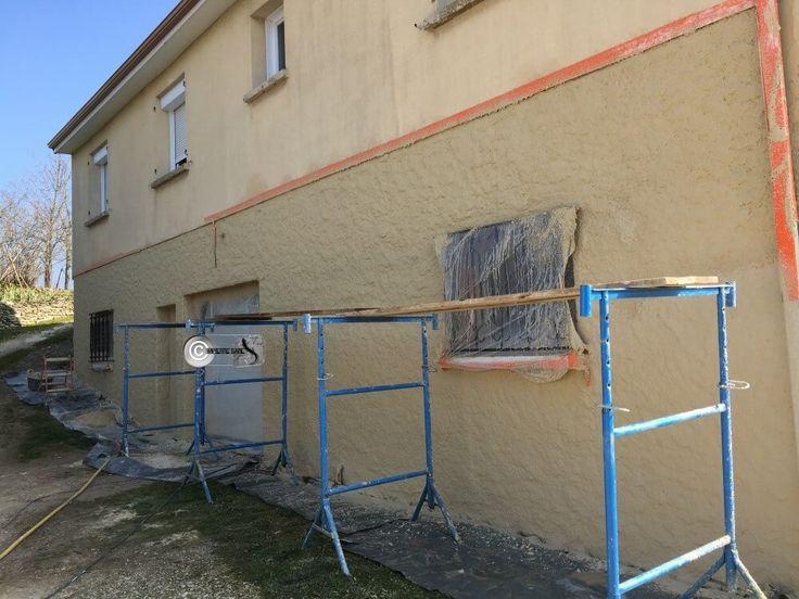 19 best Vues aériennes des chantiers ENDUIT PIERRE, façades et murs - Enduire Un Mur Exterieur En Parpaing