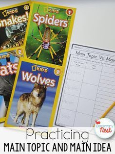 Using Informational Texts when Teaching Main Idea and Main Topic- Blog Post written to study the ELA standard that focuses on main idea/main topic and key details. Find hands on tips and activities to make teaching this informational standard easier.